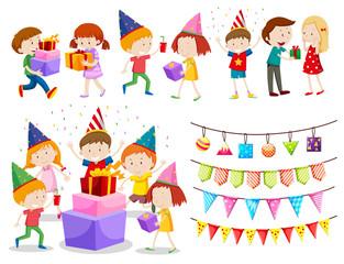 A set of celebration kids