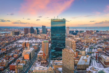 Fototapete - The skyline of Boston in Massachusetts, USA
