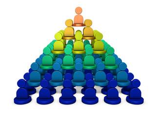 組織の階層構造を表すアブストラクト3DCG