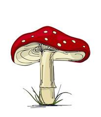 Mushroom amanita.