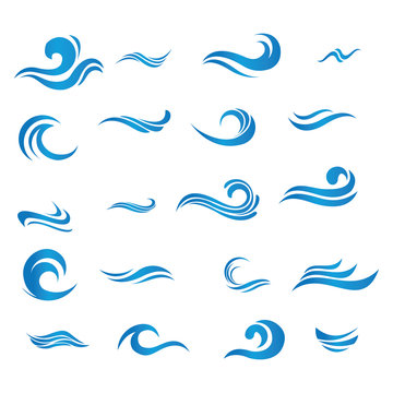 set of blue wave vector