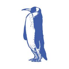 ペンギン版画風