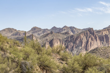 Mountain scene near Saguaro Lake, Arizona