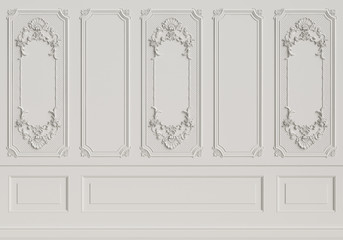 Classic interior wall with mouldings Wall mural