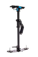 Video Camera Gimbal Stabilization isolated on white. DSLR Videography Equipment.