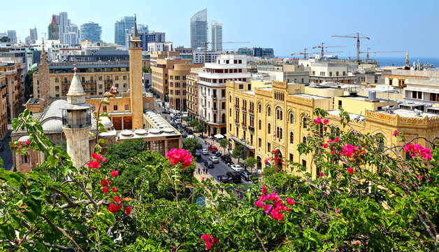 Downtown Beirut in the summertime