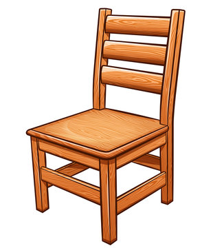 Vector chair on white background