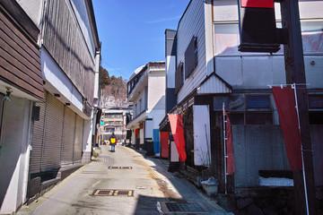 蔵王温泉街
