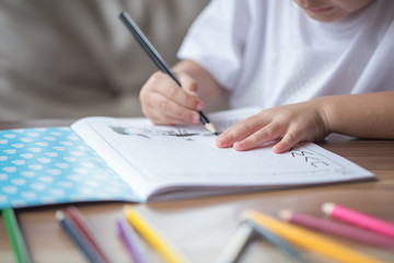 Children's drawing and painting.