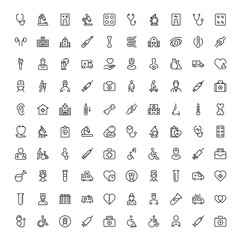 Oncology flat icon set