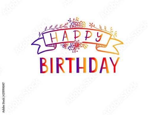 Happy Birthday Lettering Happy Birthday Calligraphy Vector Design