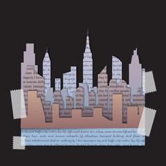 City t-shirt fashion print