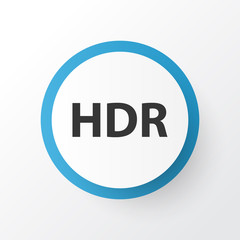 Hdr icon symbol. Premium quality isolated high dynamic range element in trendy style.
