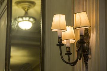 details of antique chandeliers