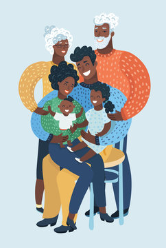 Large family portrait. African people