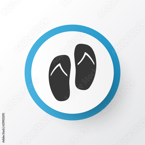 774b12b9d Flip flop icon symbol. Premium quality isolated beach sandals element in  trendy style.