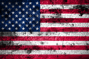 Old grunge United States background flag