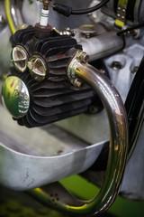 Vintage motorcycle boxer engine