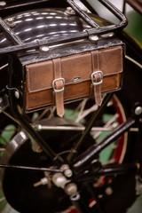 Vintage motorcycle saddle bag