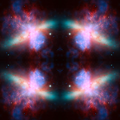 Universe simmetric background. Elements of this Image Furnished by NASA.