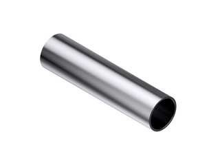 Metal pipe. Isolated on white background. 3D rendering illustration.