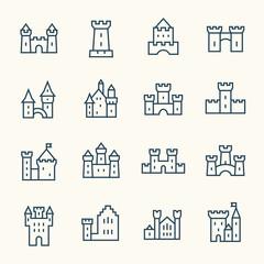 Castle line icons