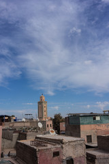 old town skyline view of marrakesh morocco