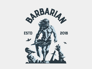 Wild warrior. Barbarian.