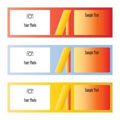 Color schemes for information on websites Vector illustration