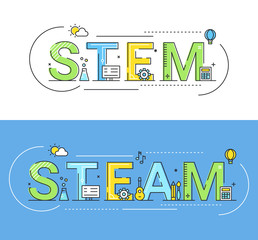 Stem and Steam Education Approaches Concept Vector Illustration