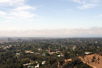 A view of Los Angeles cityscape from Getty museum in summer time