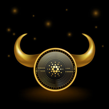 Cardano Cryptocurrency Coin Bull Market Background