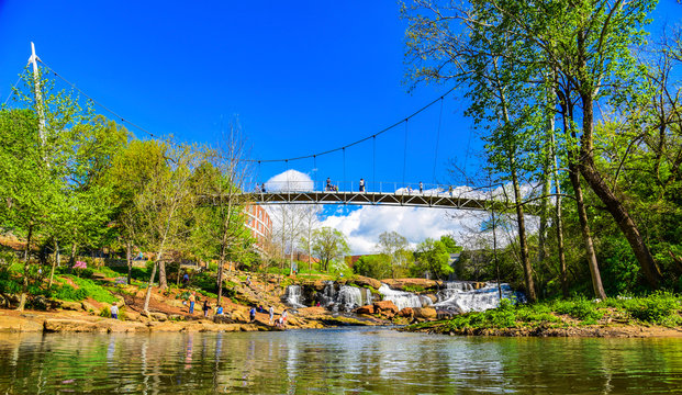 Falls Park in Downtown Greenville, South Carolina, United States.
