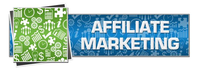Affiliate Marketing Green Left Symbols Blue Text