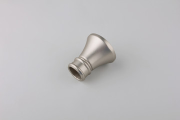 Tips for curtain poles on a white background. Ending for curtain eaves. Finials for curtain cornices.