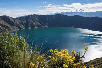 Deurstickers Zuid-Amerika land Lagune de Quilotoa, Équateur