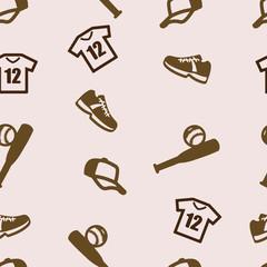 Baseball pattern seamless set