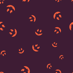 Fangs face Halloween pattern seamless color