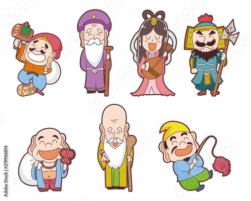七福神のイラストセット Stock Image And Royalty Free Vector Files On