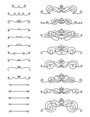 Swirl Text Divider Set