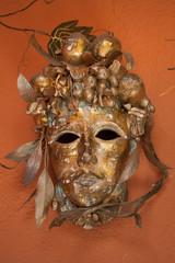 Golden Mask for Halloween or Mardi Gras