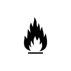 Fire Flame, Flammable. Flat Vector Icon illustration. Simple black symbol on white background. Fire Flame, Flammable sign design template for web and mobile UI element