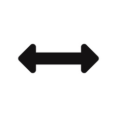 Horizontal resize option vector icon