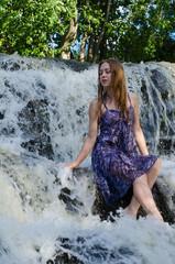 the girl in the waterfall