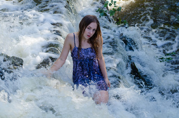 the girl in the waterfall