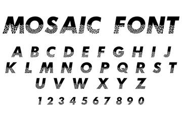 mosaic font alphabet