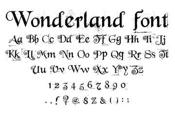 wonderland font alphabet
