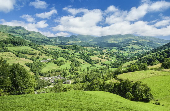 France, South-Western France, mountains of the Cantal, Mandailles Valley