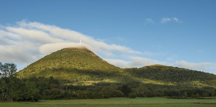 France, Center France, Chaine des Puys, Puy de Dome, major volcano of the mountain range