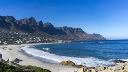 A beautiful beach in Camps Bay, Cape Town, South Africa